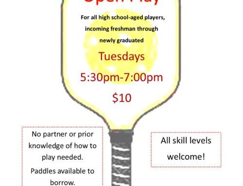 Pickleball High School Open Play